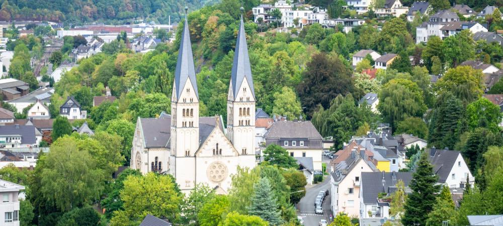 uitzicht over de stad Siegen