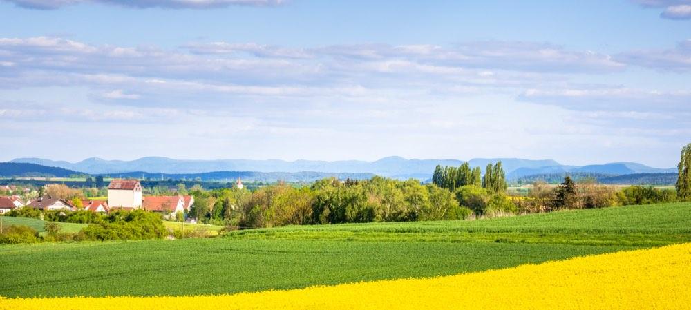 landschap en uitzicht van herrenberg