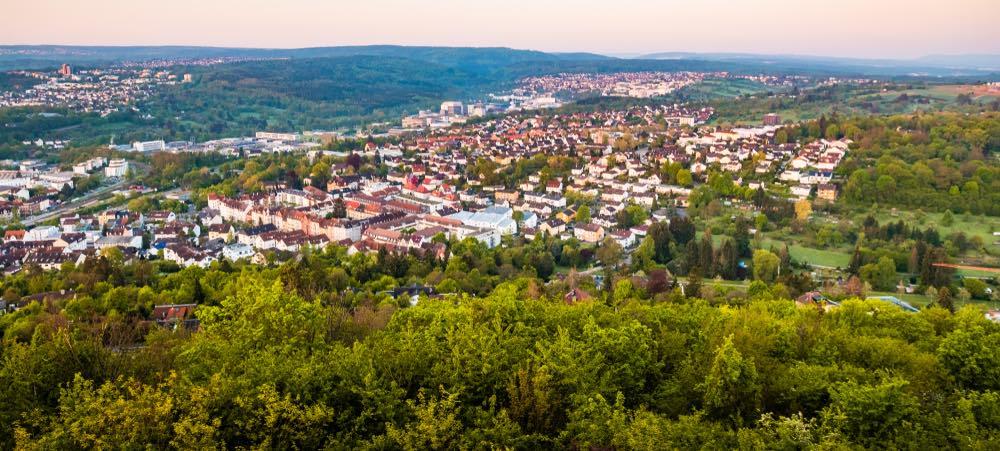 panorama uitzicht over pforzheim