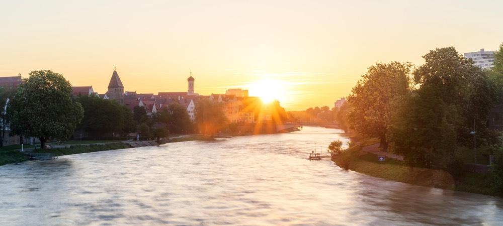 de rivier bij Neu Ulm
